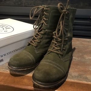 Steve Madden Olive Green Hiking Boots